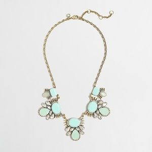 J. Crew Statement Stone Clusters Necklace Navy